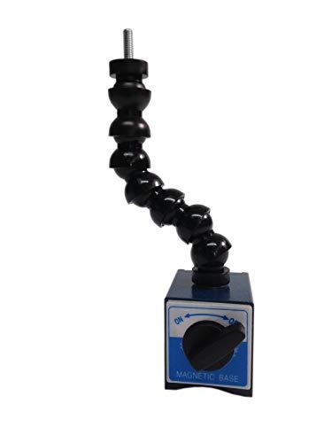 Messuhrenhalter mit Gelenkschlauch und schaltbarem Magnetfuß