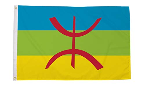 Berber 5ft x 3ft Vlag Noord-Afrika - 2 Oogjes