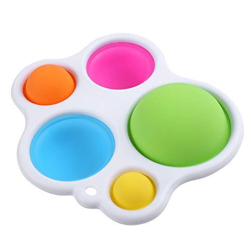 Zappeln Grübchen Spielzeug, Stressabbau Handspielzeug für Kinder, Einfach zu bedienen, Weiches Silikon Zappeln Spielzeug Erwachsene ADHS ADD Angst Autismus Kinder Geschenk (Zappeln Sie Grübchen Toy-A)