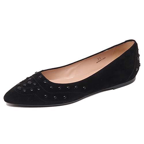 F6374 Ballerina Donna Black Tod'S Scarpe Gommini verniciati Shoe Woman [37]