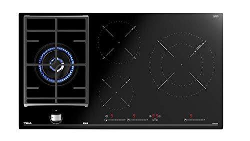 Teka Plaque hybride de 90 cm avec contrôle tactile multislider et 4 zones Noir 5 x 90 x 51 cm