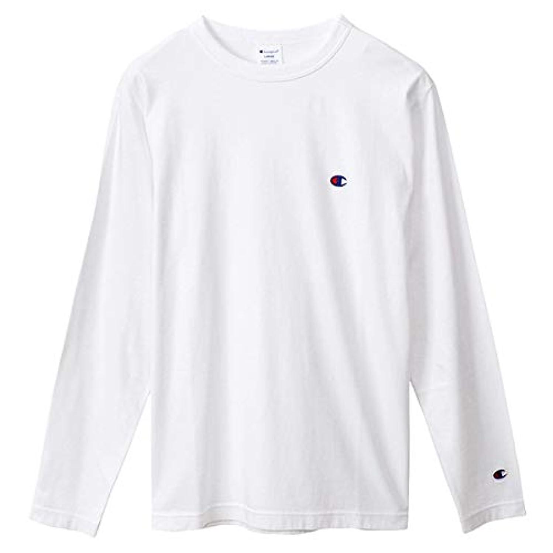武装解除さびたすることになっているチャンピオン Tシャツ 長袖 CHAMPION ロングスリーブTシャツ ベーシック ワンポイント メンズ ホワイト