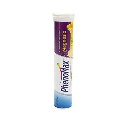 PHENOMAX SPORT, Vitaminas Efervescentes de Magnesio, 20 Comprimidos de 3 Unidades, Comprimidos Efervescentes