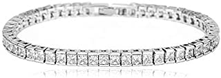 Swarovski Elements fashion 18K white gold Plated crystal exquisite Charm Bracelet for women JINB14