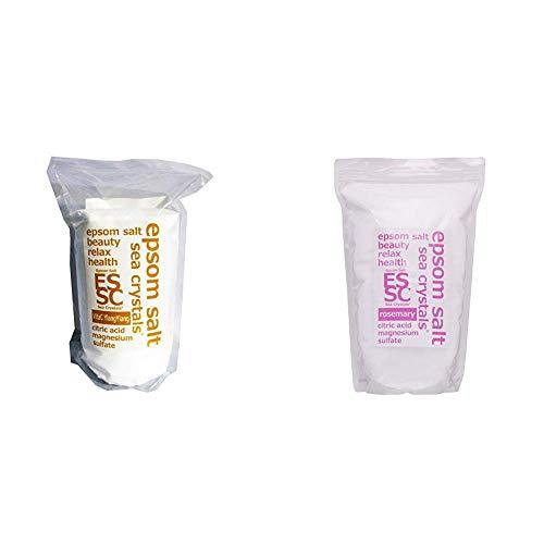 【セット買い】【Amazon.co.jp 限定】エプソムソルト 2.2kg イランイランの香り ビタミンC配合 計量スプーン付 & エプソムソルト ローズマリーの香り 2.2kg 入浴剤 (浴用化粧品)クエン酸配合 シークリスタルス 計量スプーン付