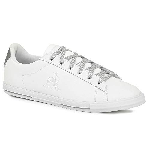 Le Coq Sportif Damen Agate Metallic Optical White/Old Silver Sneaker, Optisches Weiß/Altes Silber, 37 EU
