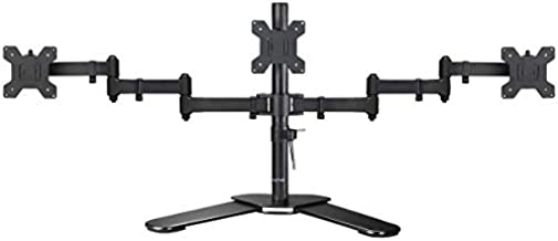 Suptek Triple LED LCD Monitor Free-Standing Desk Stand Heavy Duty Fully Adjustable Mount for 3 / Three Screens up to 27 inch (ML6463)
