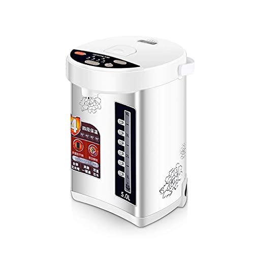 Hervidores eléctricos Olla termo de acero inoxidable 5 L / 20 tazas Indicador LED Dispensador de agua caliente Botones de dispensación automática y manual Calentador de agua Caldera, Cerradura para ni