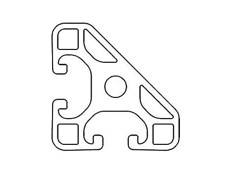 1 50mm 24,00 EUR//m + 0,50 EUR por corte, m/ín. 2,50 EUR tipo B corte de 50-2000 mm ranura 10 Perfil de aluminio 45 x 90 L