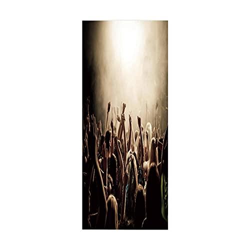"""tzxdbh 3D Pegatinas de Escalera Bar iluminación pista de baile 100CMx18CMx6pieces(39.3""""w x 7""""h x 6pieces) Escaleras Cocina Piso Baño Simulación Decoración de Pared Hogar Impermeable Extraíble Etiqueta"""