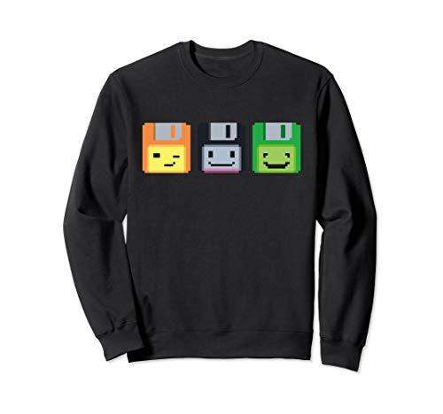 Diskette Floppy Retro Nerd Gamer Pixel Sweatshirt