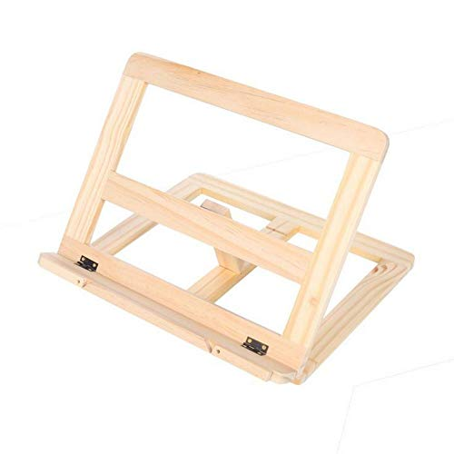 BESTSOON Caballete de dibujo marco de madera de lectura estantería soporte de tableta PC soporte de madera mesa de dibujo caballete estudiante caballete de estudio caballete