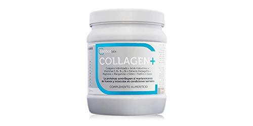 Colágeno hidrolizado +Ácido hialurónico + Vitaminas C, B2, B3 y B6 + Extracto Harpagofito + Magnesio + Manganeso + Cobre + Fósforo + Calcio - 350gr