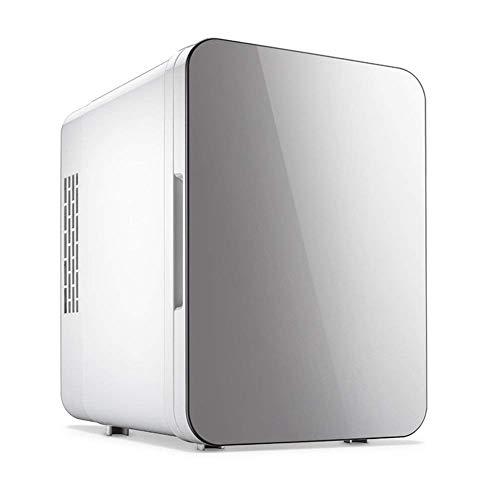 Habitación de dormitorio Compact-Refrigeradores, Frigorífico congelador pequeño, refrigerador de la oficina de automóviles Mini nevera Can Beverage Freon-Free Eco Friendly (blanco) -Gray 25x24x18cm (1