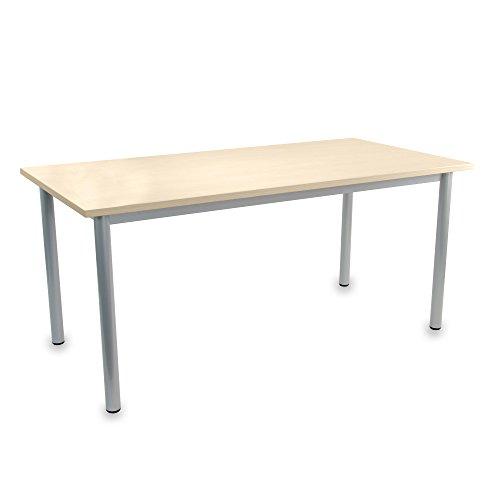Optima Besprechungstisch Ahorn 160x80cm 4-6 Pers. Konferenztisch Meetingtisch