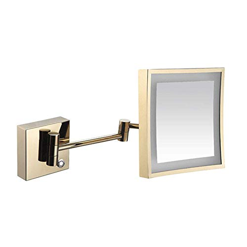 JqwerP 8-Inch Wall Mount Mirror with 3X, 360 Degree Swivel Rotation with Distortion Free View, Single-Sided, Extendable Arm