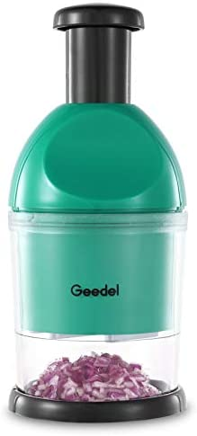 Geedel Food Chopper Easy to Clean Manual Hand Chopper Dicer Slap Press Chopper Mincer for Vegetables product image