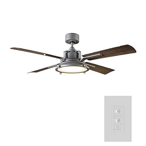 Modern Forms Nautilus Indoor / Outdoor 4-Blade Smart Ceiling Fan 56 inch Graphite