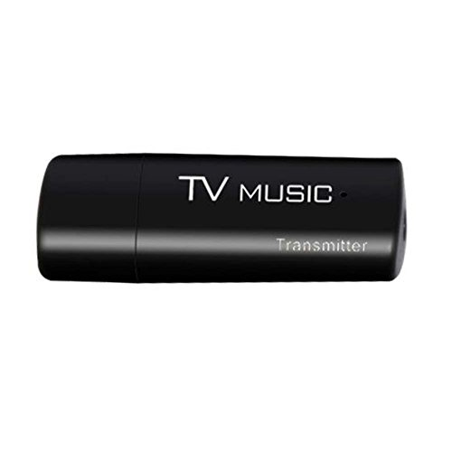 prettygood7 Bluetooth Transmitter, Muziek Dongle Adapter Audio Transmitter 3.5mm Auto DVD Speler met Touch screen LCD Monitor USB Bluetooth Stereo voor TV PC