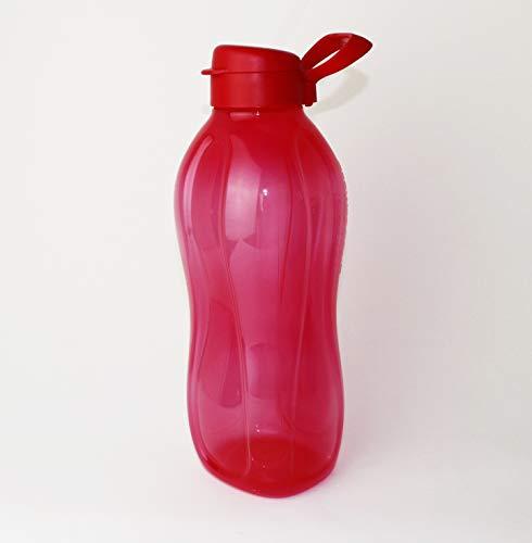 Tupperware to Go Eco 2 L rojo + soporte / asa para botella de agua con cierre de clip