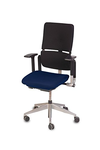 "TexDeko Bezug für Bürostuhl - Husse für Bürodrehstuhl & Schreibtischstuhl, Chefsessel, Bürosessel ""one Size fits All"" (blau)"