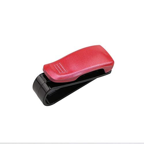 HKPKYK Sujetador automático Cip Accesorios para automóviles ABS Coche Vehículo Visera para el Sol Gafas de Sol Anteojos Soporte para Gafas Clip de boleto
