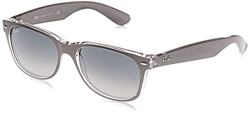 Ray-Ban New Wayfarer, Gafas de Sol Unisex adulto, Gris (Gunmetal and Transparent 614371), 55 mm