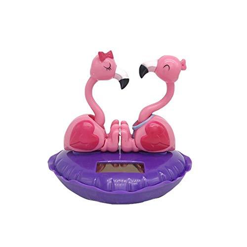 circulor Solar Wackel Figur Tanzender Flamingo Solar Wackelfiguren Auto Solar Solarfigur Wackelfigur Schwingt Spielzeug Auto Dekor