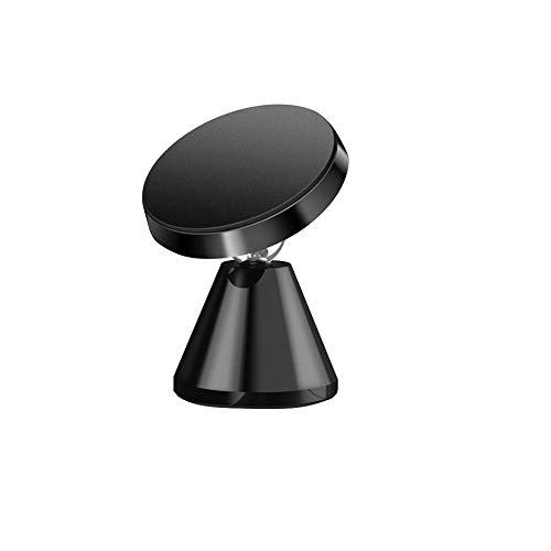 スマホスタンド 車 マグネット式 車載ホルダー 落下防止 360度回転 携帯ホルダー 各種対応 粘着式 カースタンド スマホホルダー (Black)