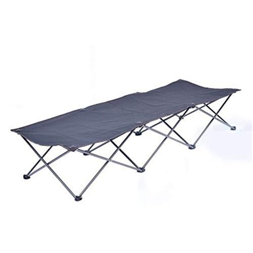 Vobajf-PFC Cunas y hamacas Cama Camp Portable Cuna para Dormir Oficina de Viaje al Aire Libre Camas DE Camping para Adultos Playa y tumbonas. (Color : Black, Size : 185x66x32cm)
