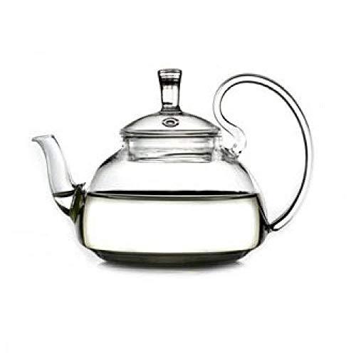 Tetera de vidrio Tetera De Vidrio Teteras Juego de té de vidrio Juego de tetera Pyrex con filtro Tetera de vidrio de borosilicato alto Tetera de flores