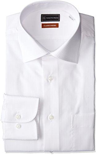 (ピーエスエフエー)P.S.FA クラシコモデル 形態安定 長袖 セミワイドカラーワイシャツ M151180076 01 ホワイト 3L86(首回り45cm×裄丈86cm)