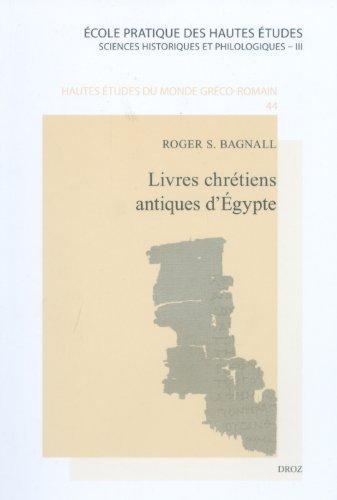 Livres chrétiens antiques d'Egypte PDF Books