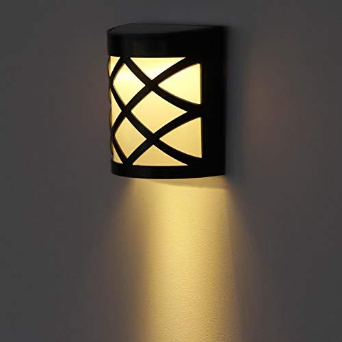 Omabeta Lámpara de jardín Luz LED Duradera Impermeable Ahorro de energía para Cubiertas Muelles(Warm White)