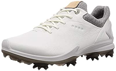 ECCO Men's Biom G3 Gore-TEX Golf Shoe, Shadow White Yak Leather, 43 M EU (9-9.5 US)