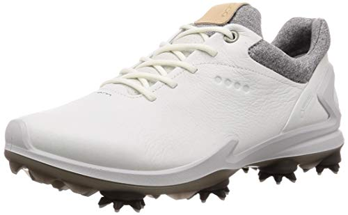 ECCO Men's Biom G3 Gore-TEX Golf Shoe, Shadow White Yak Leather, 11-11.5