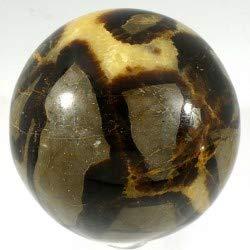 Esfera de septaria nódulo o piedra de dragón, diámetro 5 cm
