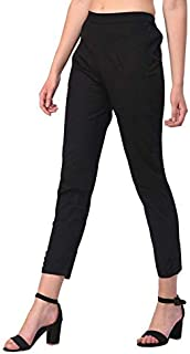 ALIYAA Women's Straight Fit Casual Trouser