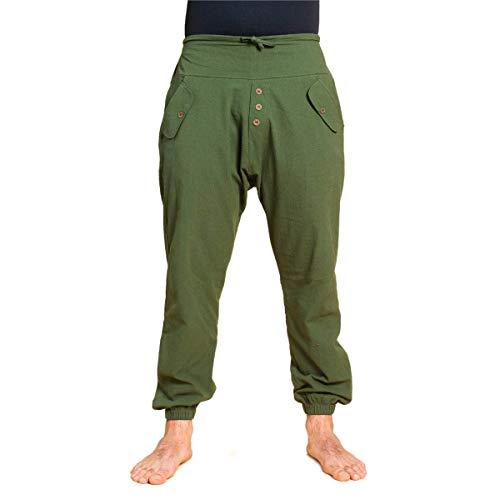 PANASIAM Yogipants, cotton, olivegreen, M