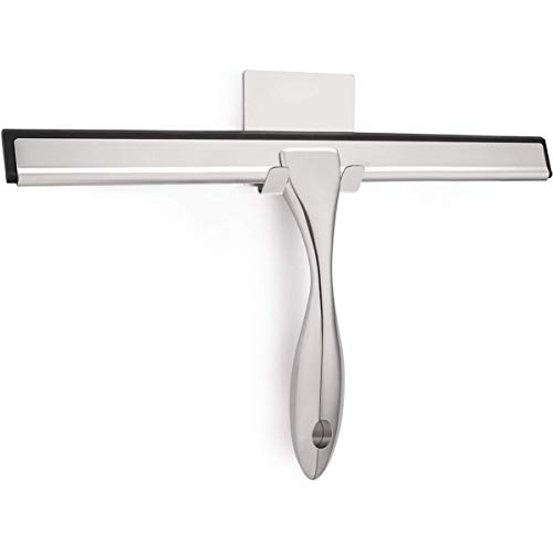 Stainless Steel Shower Squeegee for Shower Doors, Bathroom, Window, Mirror and Car Glass - 14 Inches