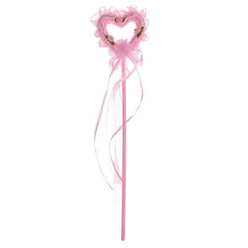 Hellery Lovely Heart Princess Fairy Wand Girls Angle Party Disfraz de Vestir - Rosado