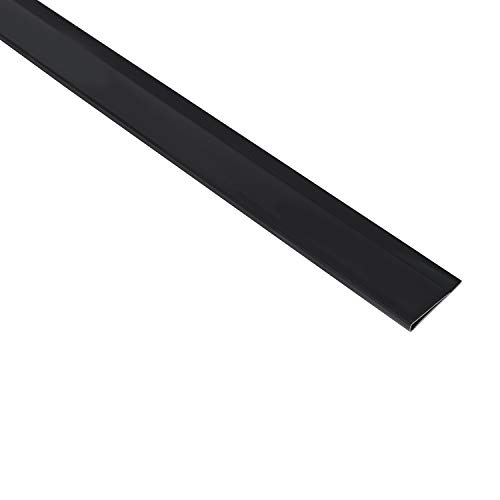 Sekey PVC Zaunschiene Endstreifen Abdeckungsprofil Geeignet für Balkone, Zäune, Privatsphäre im Garten Sichtschutzmatte, Zaunschutz, 1 m/Streifen, 5er Set, Anthrazit