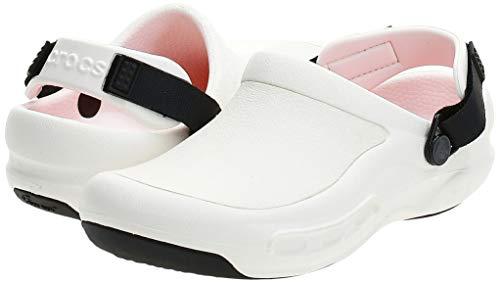 Crocs Unisex Men's and Women's Bistro Pro LiteRide Clog   Slip Resistant Work Shoes, White, 7 US