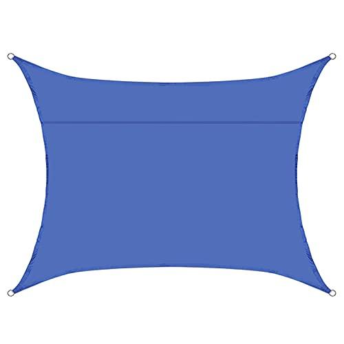 JNYB Toldo para jardín de 7 x 13 pulgadas, resistente al agua, para patio, fiesta, protección solar, toldo 98% con protección UV, con cuerda libre, color azul