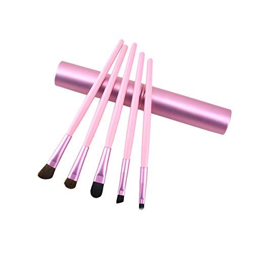 Lidschattenpinsel, 5-teiliges Make-up-Pinsel-Set mit Echtholz-Griff für Augenbrauen, Eyeliner,...