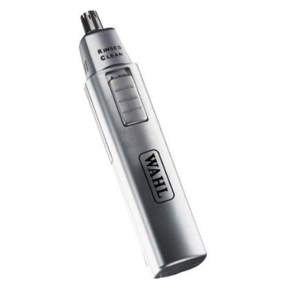 BATTERY OPERATED WAHL MENS WASHABLE PERSONAL NOSE NASAL EAR HAIR TRIMMER RINSEABLE