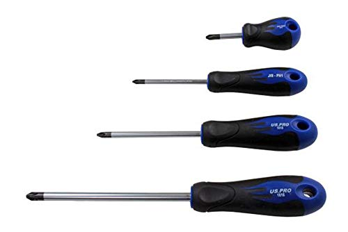 US PRO 1616 Piece Japanese Industry Standard Screwdriver ph1,2,3 Tools Schraubendreher-Set, japanischer Industriestandard, JIS ph1, 2, 3, 4-teilig
