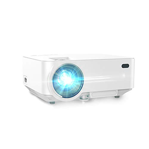 Mini Porjector, 1500 lumens Brightness 170in 1080P HD Display, Dual Speakers, Support HDMI USB SD AV VGA TV, 30,000 hrs LED Life, Portable Pico Video Projectors for Outdoor Travel Business Games
