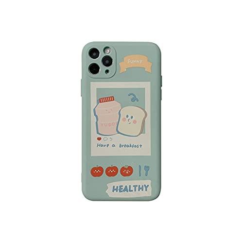 QJSMGZS Funda Para Teléfono De La Bebida De La Fruta De La Historieta Japonesa Linda For IPhone 12 11 Pro Max XR X XS MAX 7 8 PULS Funda De Silicona Suave ( Color : 01 , Size : For iPhone12 mini )