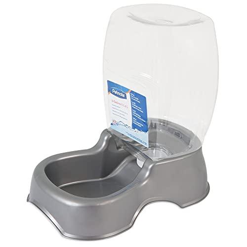 Petmate Pet Cafe Pet Waterer, 3 Gal, pearl silver gray